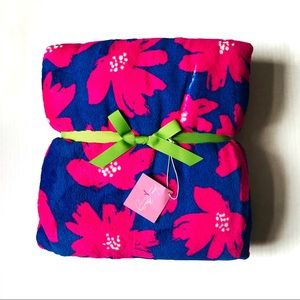 Vera Bradley Poppies Fleece Blanket Throw 80x50